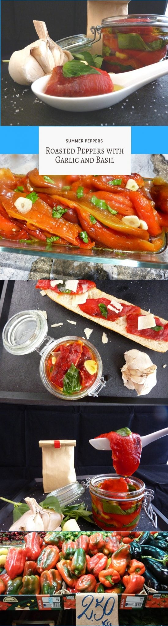 Summer Peppers with garlic and basil