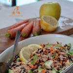 This black rice recipe, not only is simple to make and fresh for the summer, it is also full of healthy vegetables and fibres. A vegan meal that can be served as main or as a side dish for a barbecue dinner.
