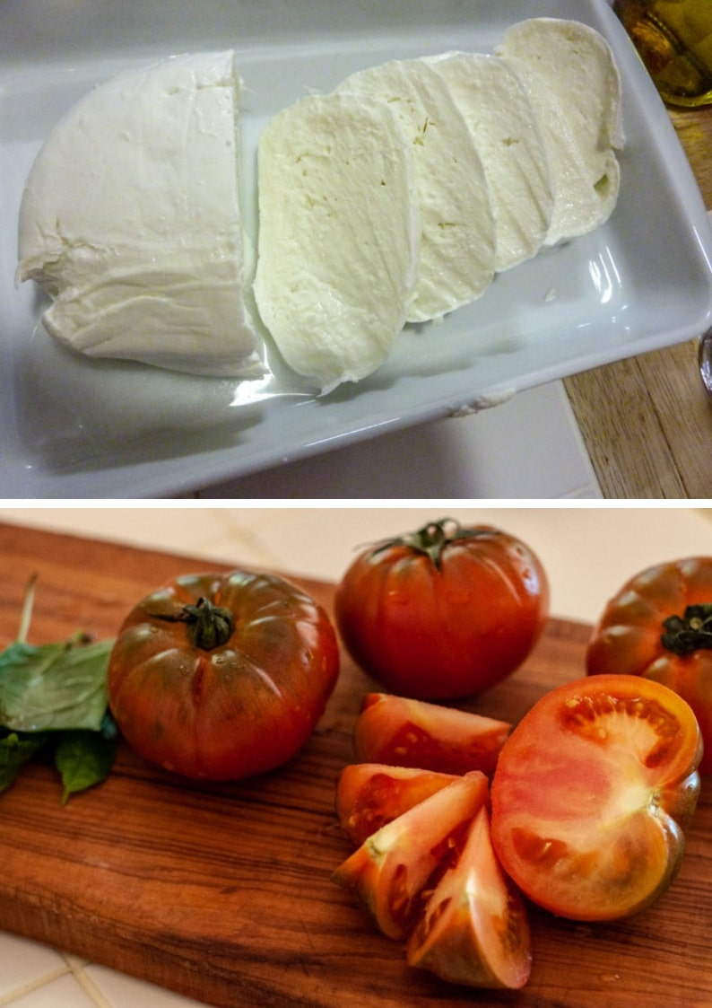 Mozzarella and tomato