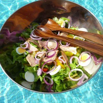 Floating Nicoise Salad