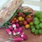 Picnic French Sandwich with local ingredients