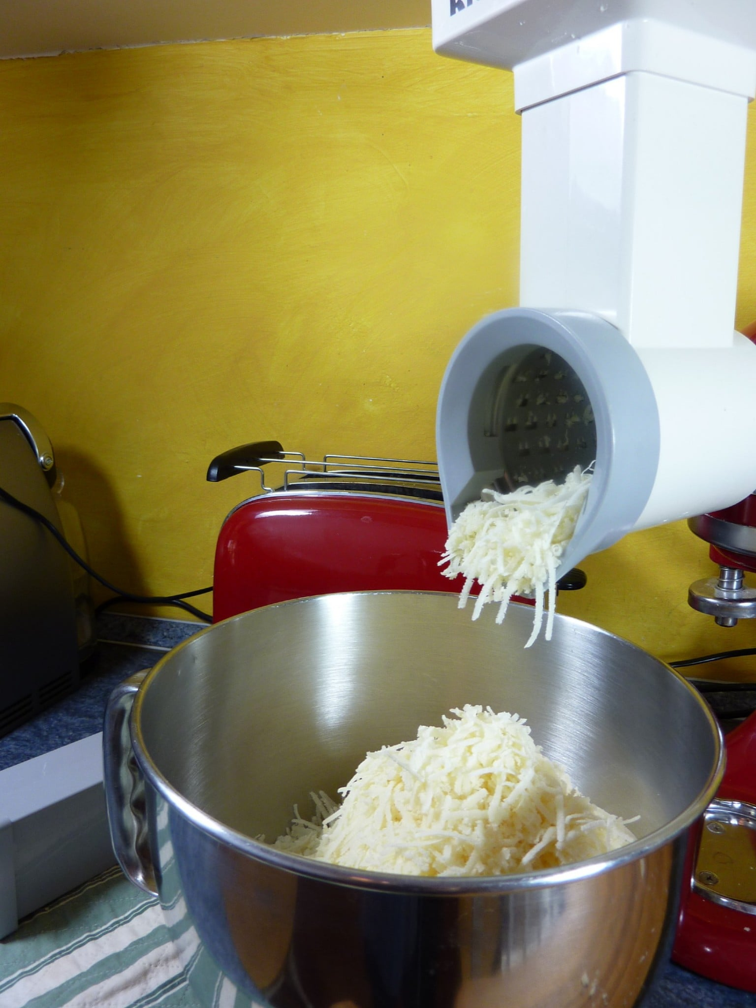 Basic Freezing for winter grated parmesan