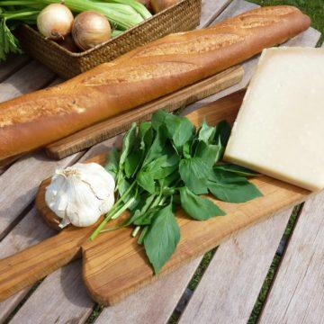 bread garlic parmesan basil