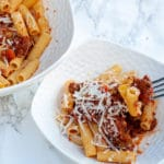 Healthy dinners for kids Tagliatelle alla bolognese