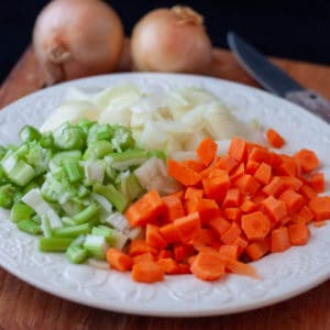 carrot onion celery called mirepoix