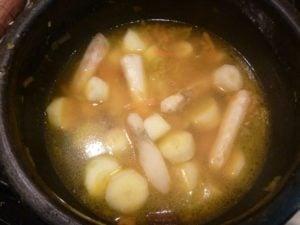 Jerusalem artichokes in the soup