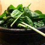 Jerusalem artichokes spinach soup
