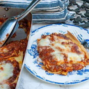 Traditional Lasagna Bolognese Sauce and Bechamel