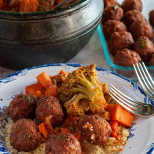 Meatballs with Vegetables and Couscous