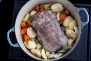 Pork Stew add vegetables