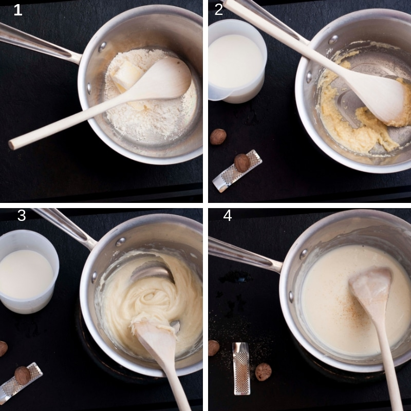Step by step bechamel white roux