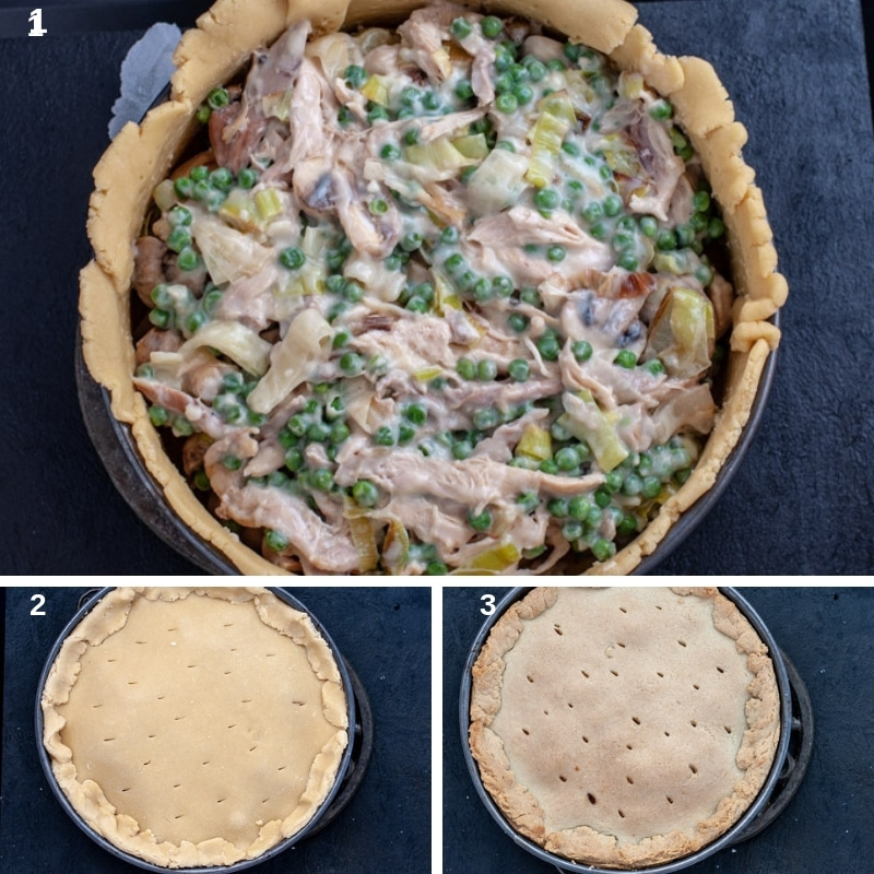 Step by step cooking chicken pie