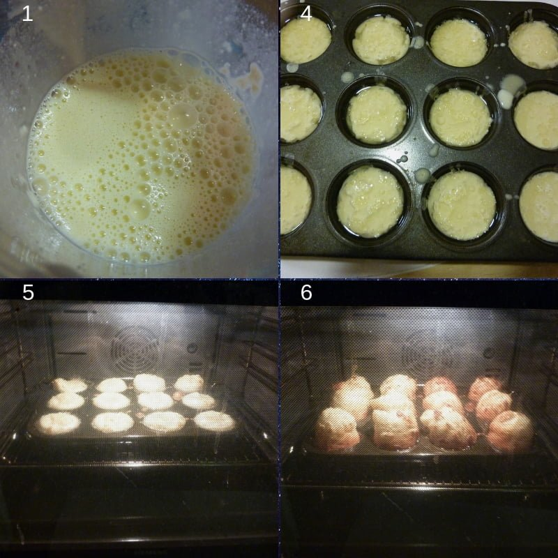 Yorkshire pudding process shots