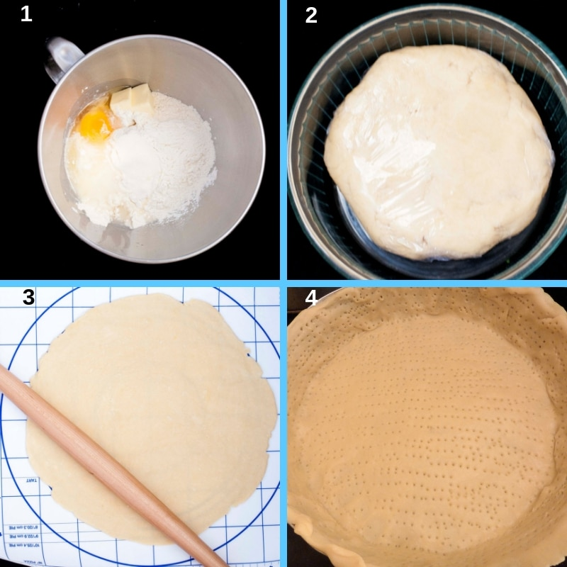 process steps short pastry