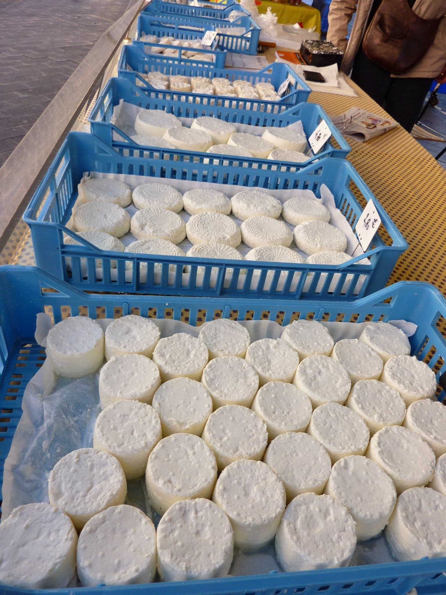 Nice market cheese chevre