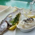 trout parcel basmati rice and lemon