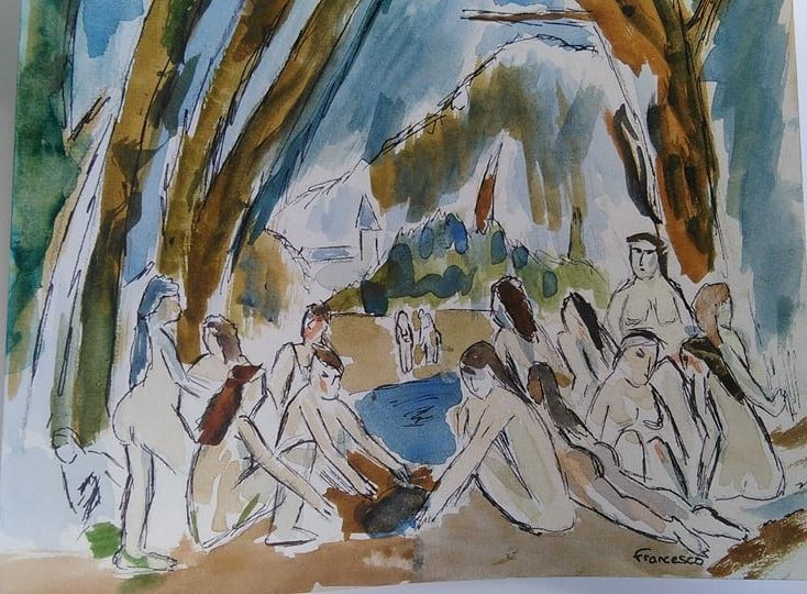 Cezanne The Bathers revisited by Francesco