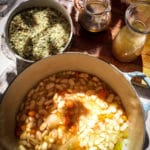 Traditional French Cassoulet beans Haricot Tarbais