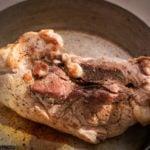 Traditional French Cassoulet pork shoulder