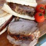 Homemade porchetta Romana