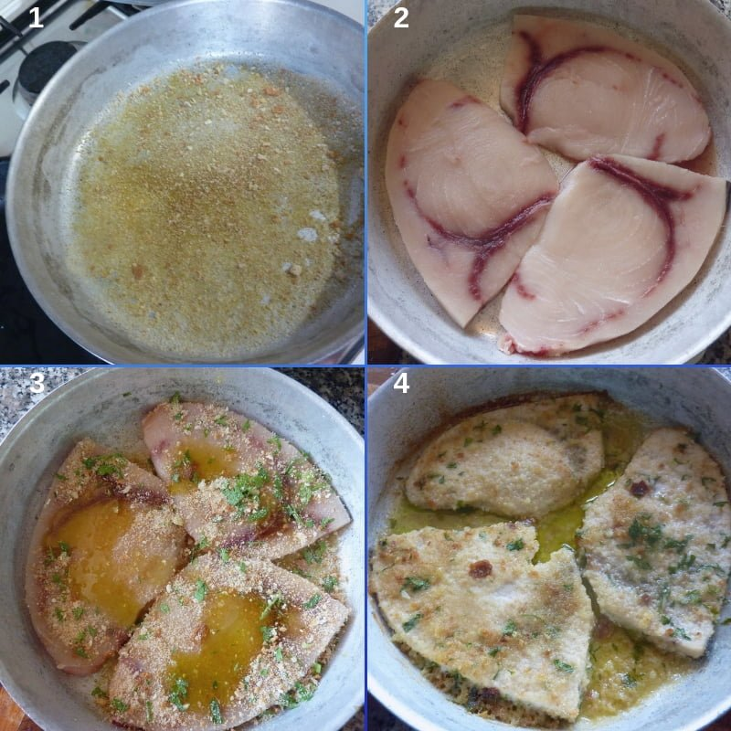 Step by step Baked swordfish