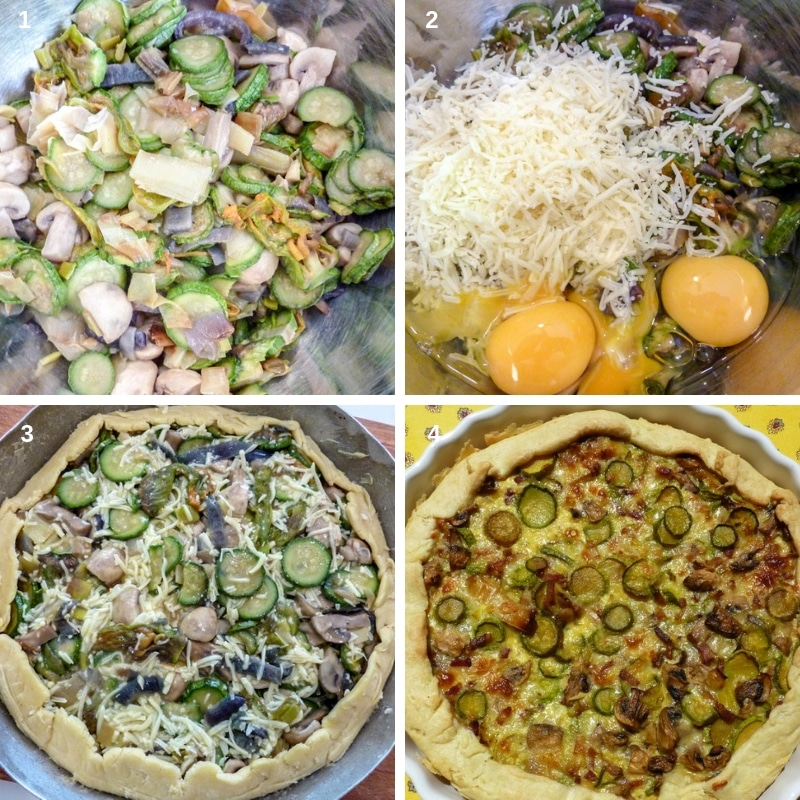 Step by step cooking the quiche