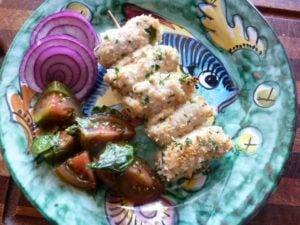 Baked Swordfish braciolette