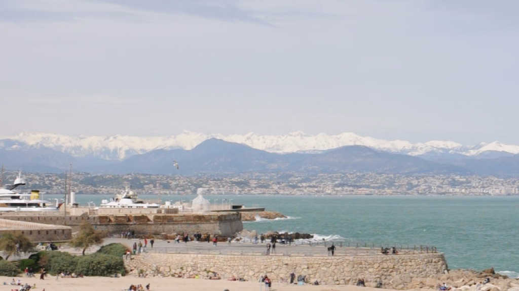 Antibes harbor and Pissaladiere