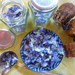 homemade crystallized violets festival