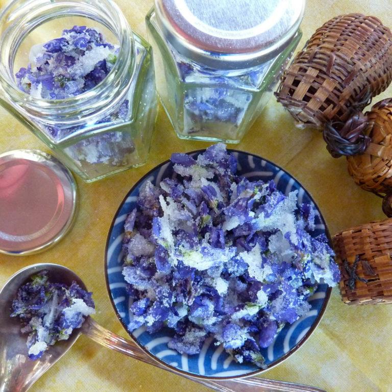 homemade crystallized violets festival