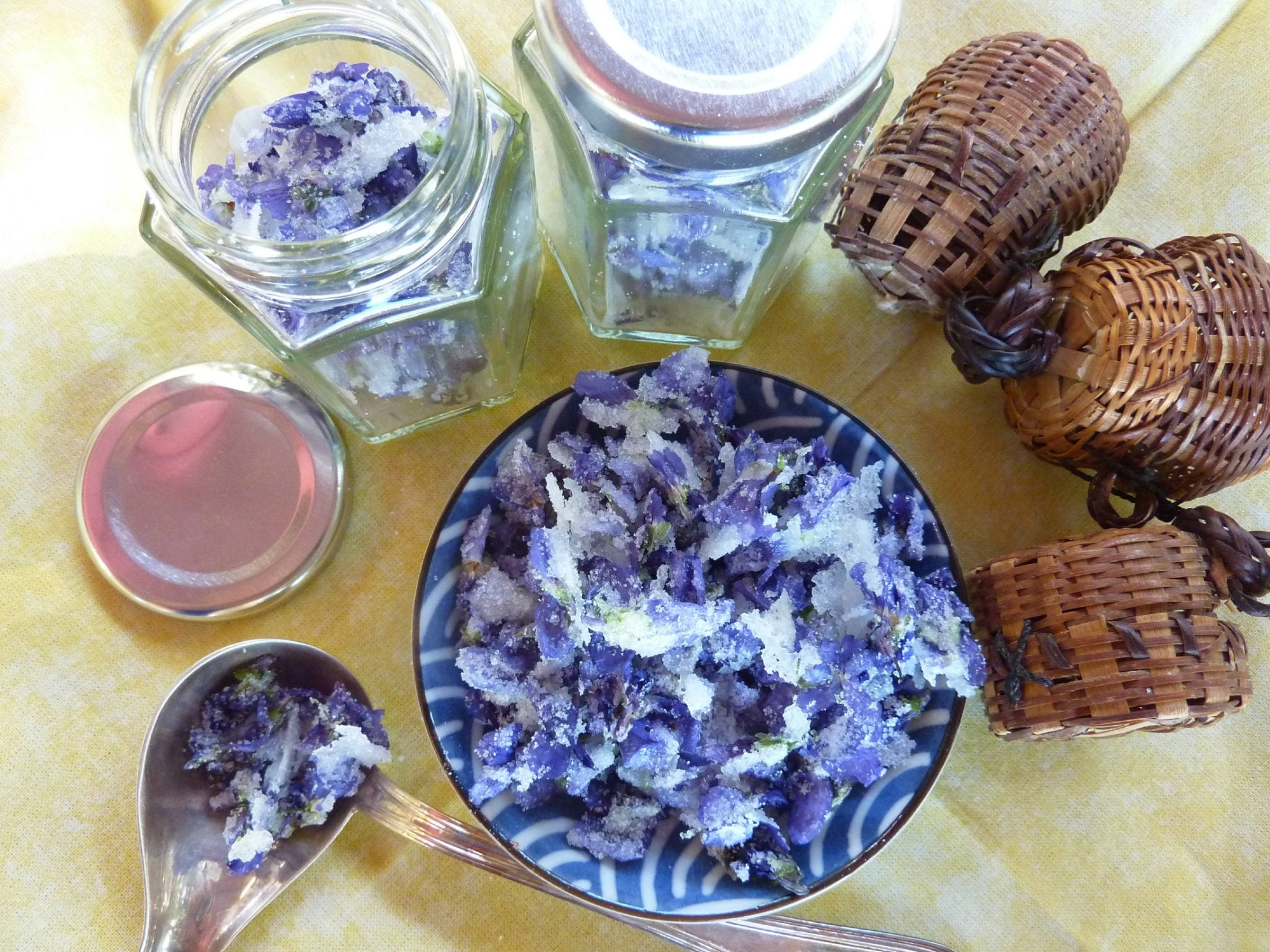 homemade crystallized violets recipe