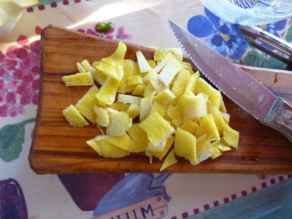 Lemon zest for nocino