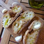Italian Bruschetta virgin olive oil and garlic