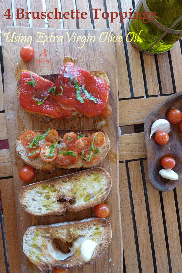 If you want your barbecue to be complete, here are 4 bruschette toppings using virgin olive oil and garlic. For Italians a bruschetta is mandatory at bbq #yourguardianchef #italianfood #italianrecipe