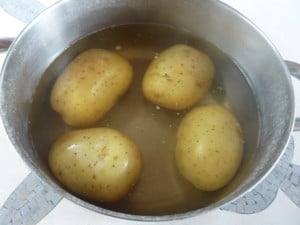 Boil potatoes for 20 minutes