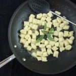 Gnocchi mixed with the sauce