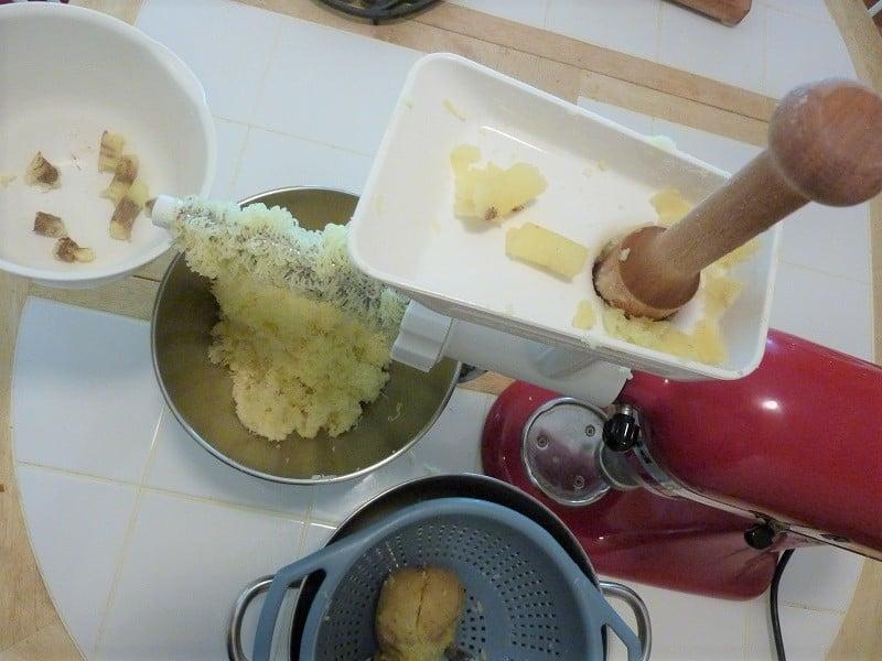 Homemade gnocchi kitchenaid