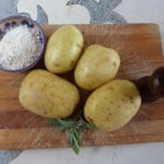 Ingredients for homemade gnocchi