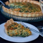 Caramelized Squash Ricotta Spinach Bacon Quiche