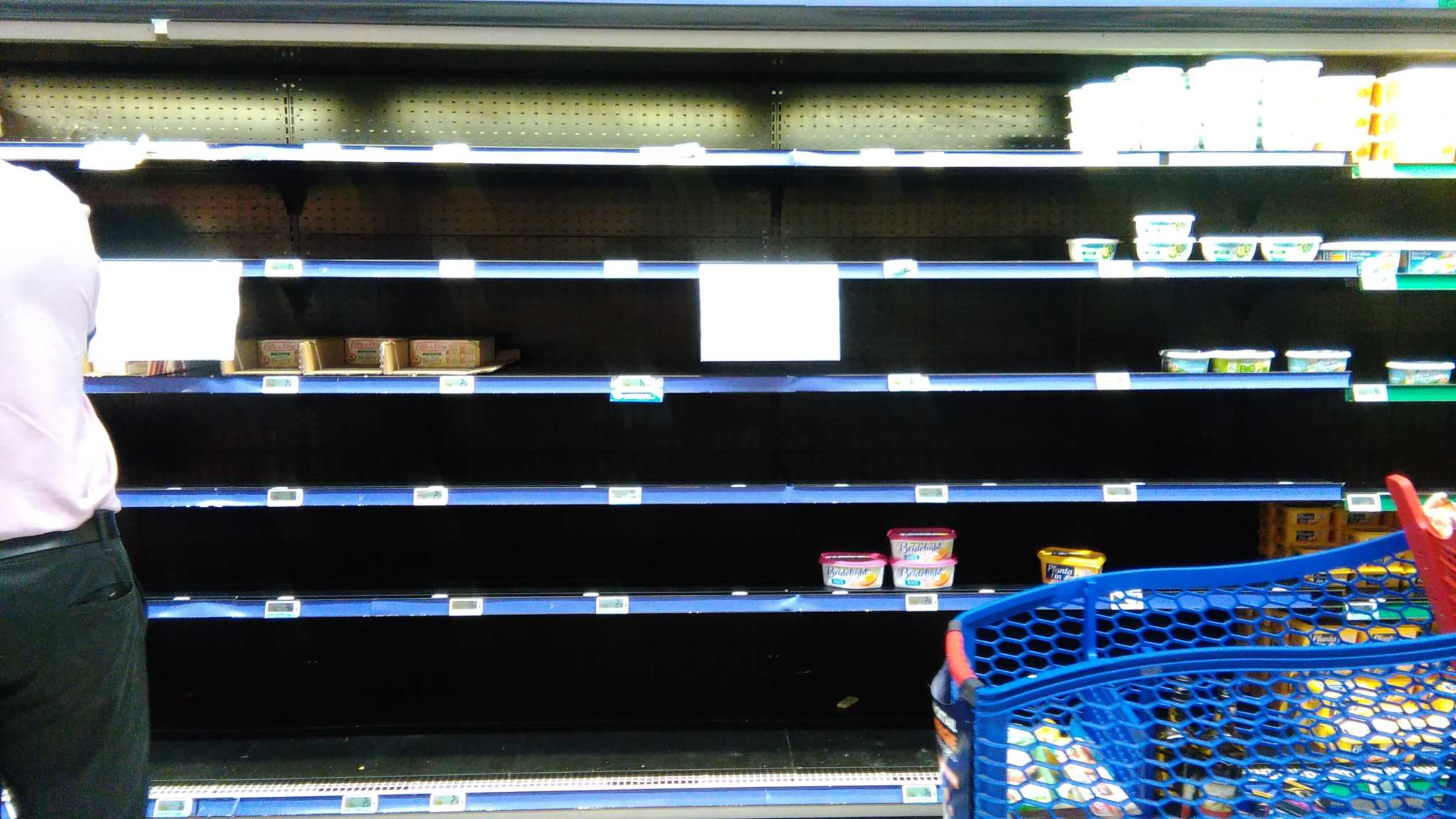 Carrefour empty selves no butter in France