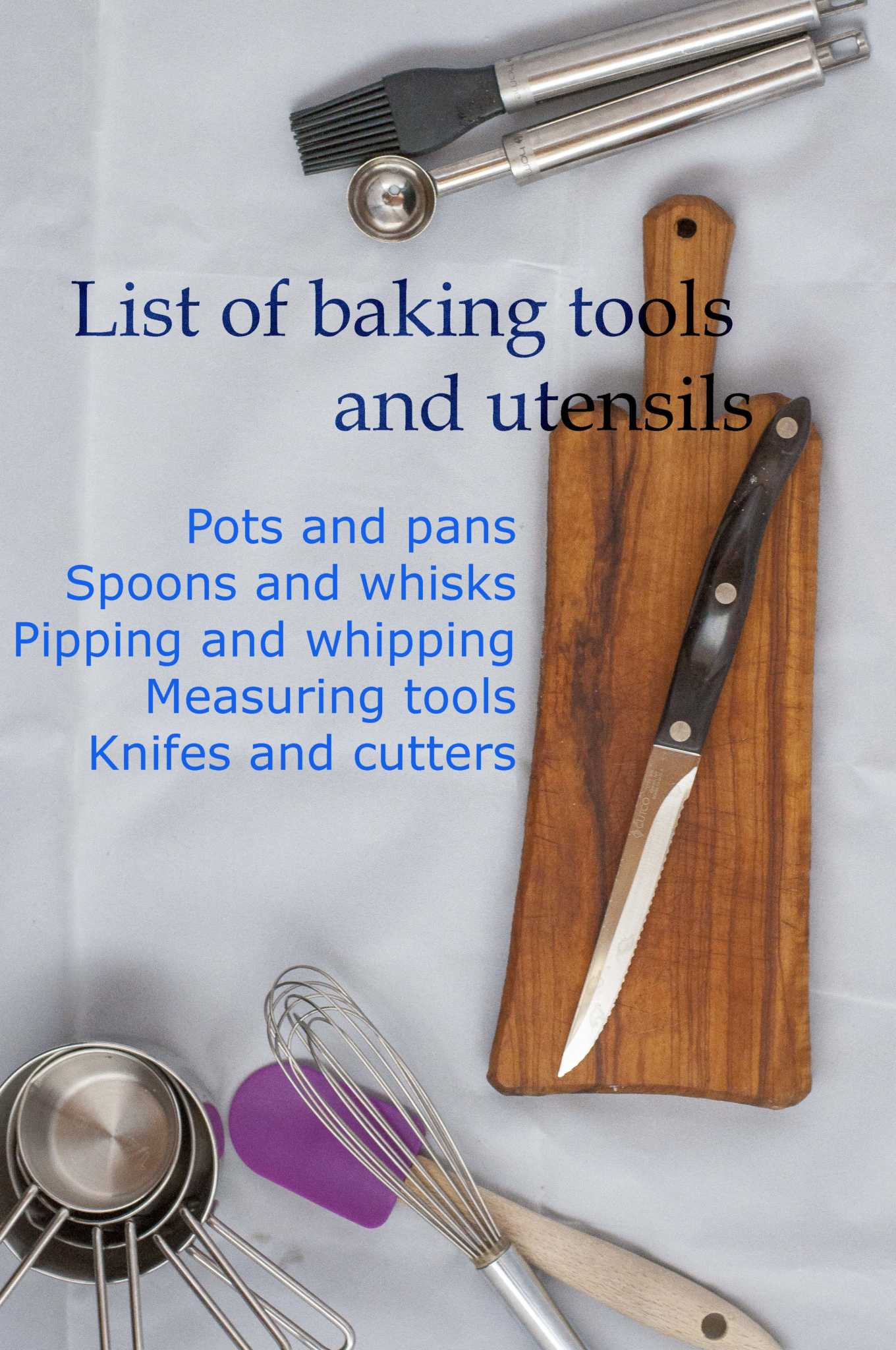 My Baking Tools And Utensils Your Guardian Chef
