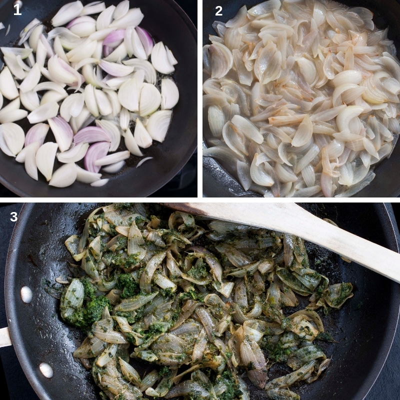 Process for caramelized onion