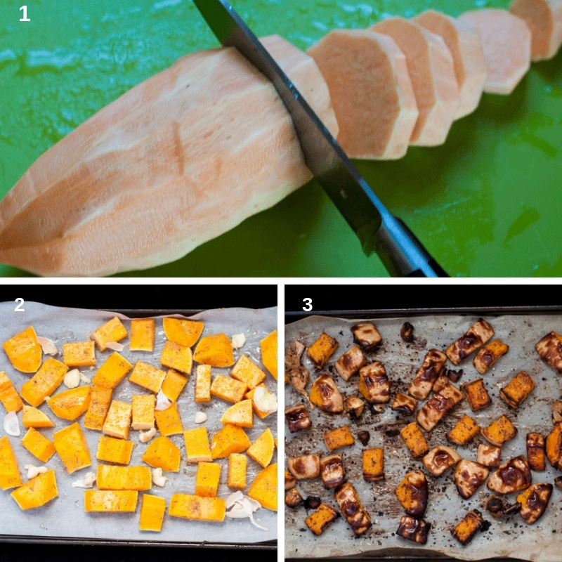 process to caramelized sweet potatoes