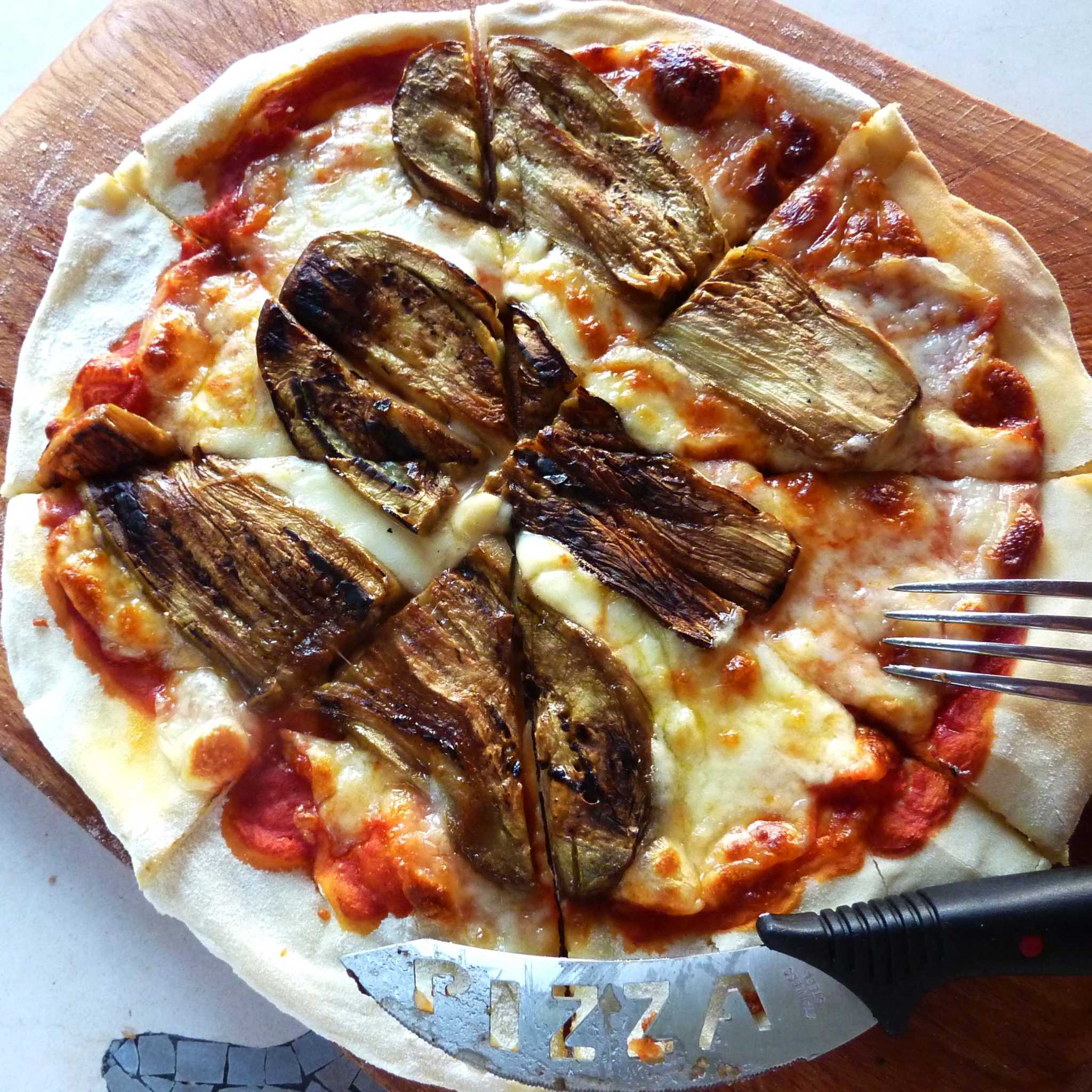Pizza with Grilled Aubergine