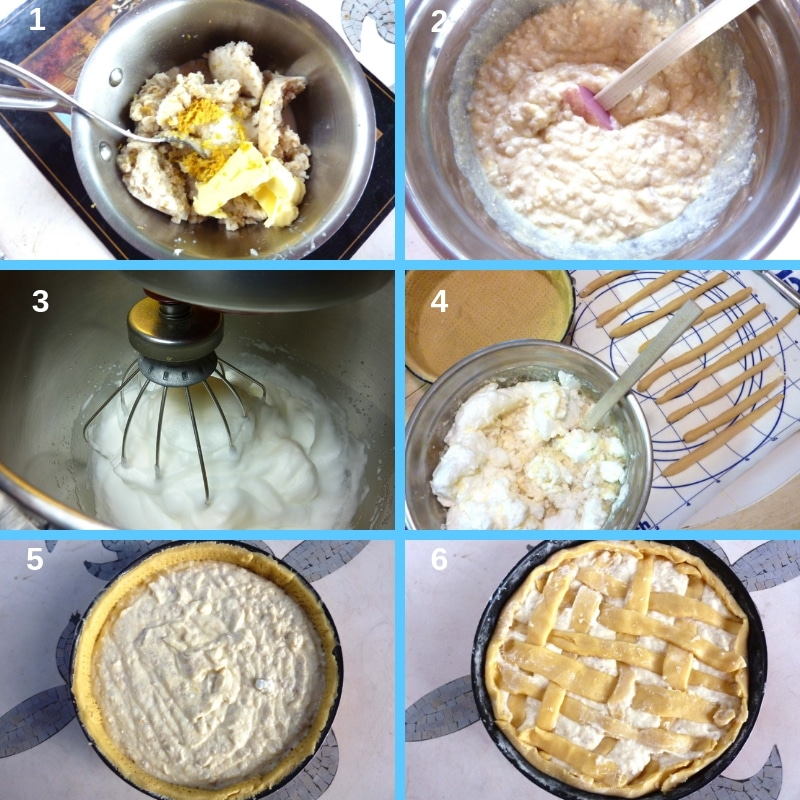 How to make pastiera filling step by step