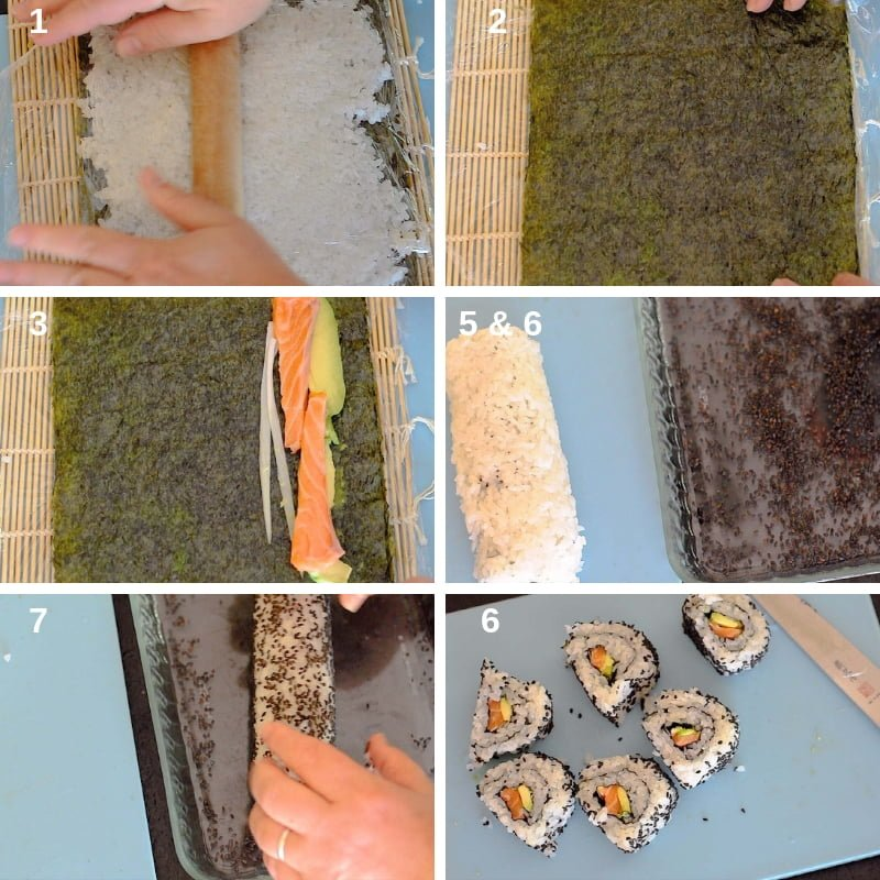 Step by Step Uramaki