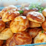 Cheese Gougère Bourguignonne are puff pastries where sugar is replaced by cheese and milk by water. They are perfect for a buffet table because they can be served at room temperature and can be done the day before. #yourguardianchef #appetizerrecipes #appetizersforparty #appetizerrecipeschristmas