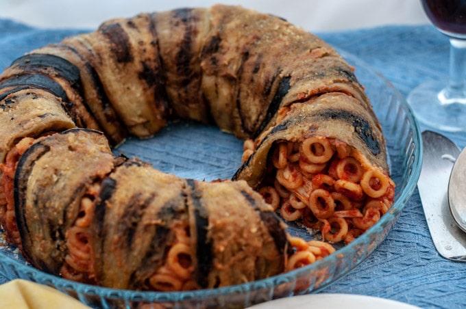 Baked eggplant pasta Anelletti