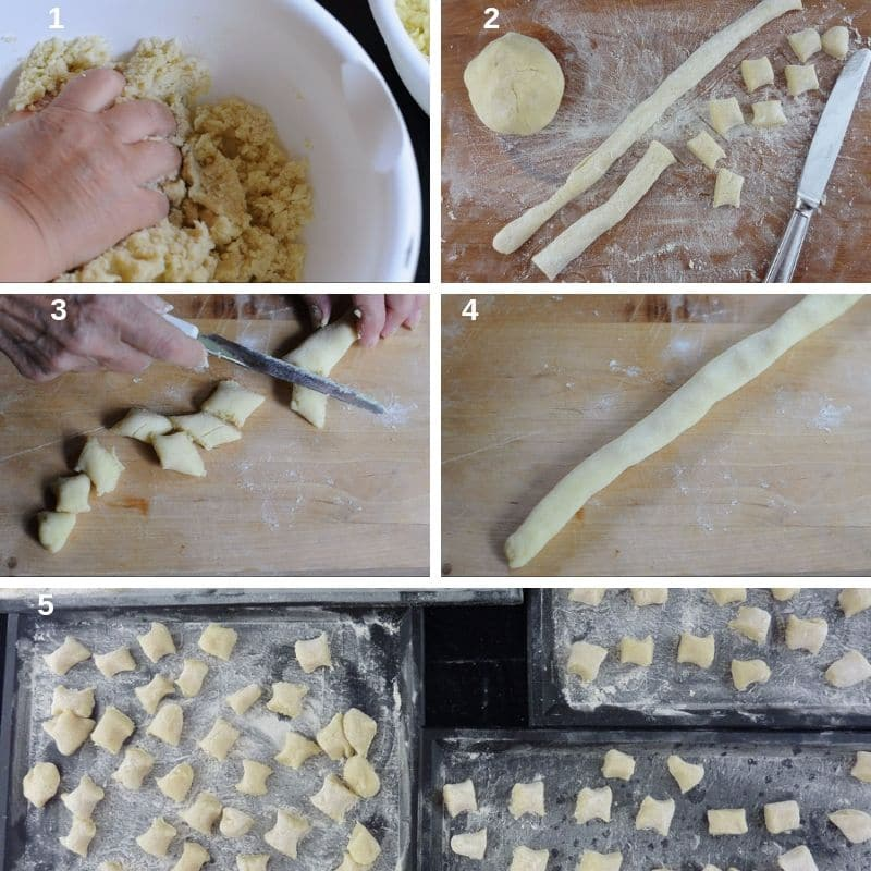 How to shape Italian gnocchi