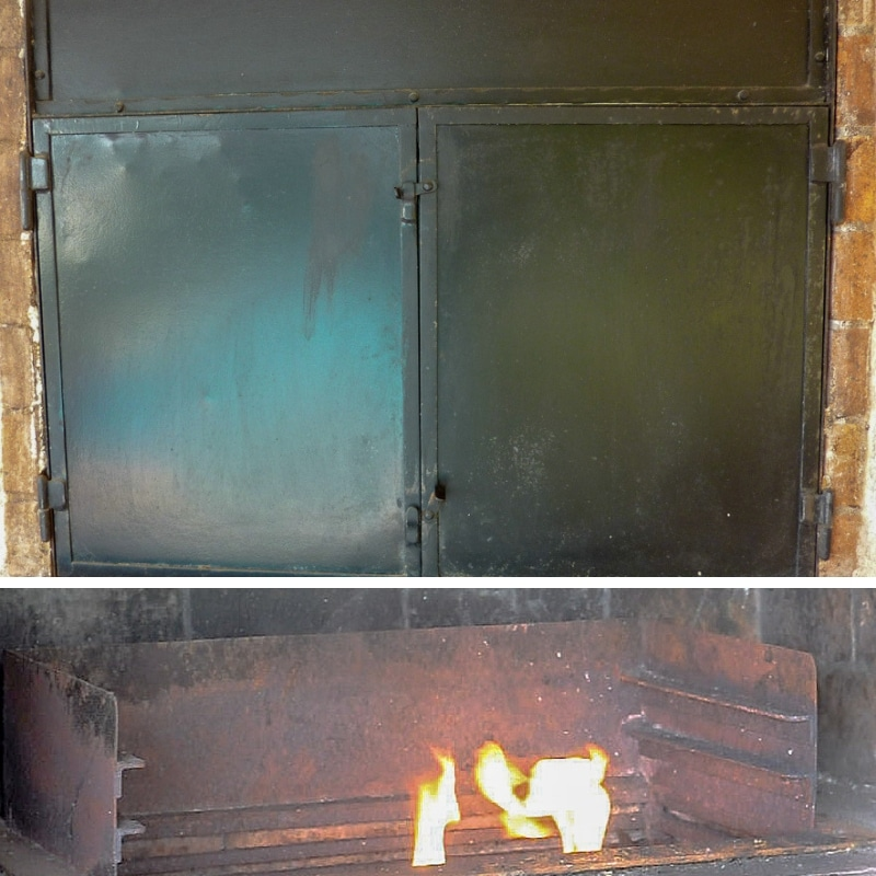 BBQ with door and levels